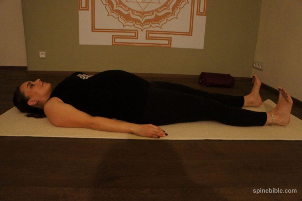 Шавасана. йога для беременных с учетом корректного подхода к позвоночнику