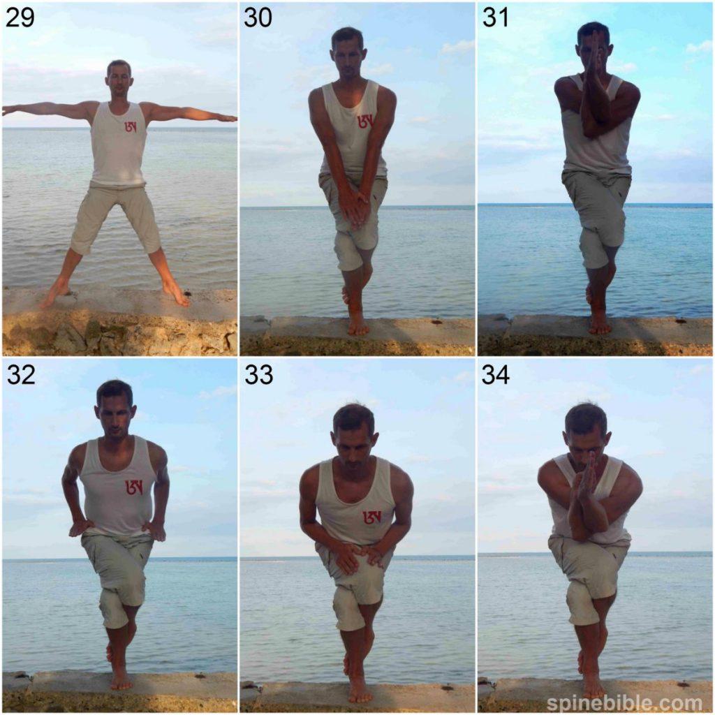 Асана йоги. Гарудасана. Поза орла