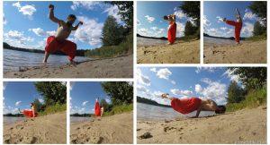 Асаны йоги на природе с учетом КПП