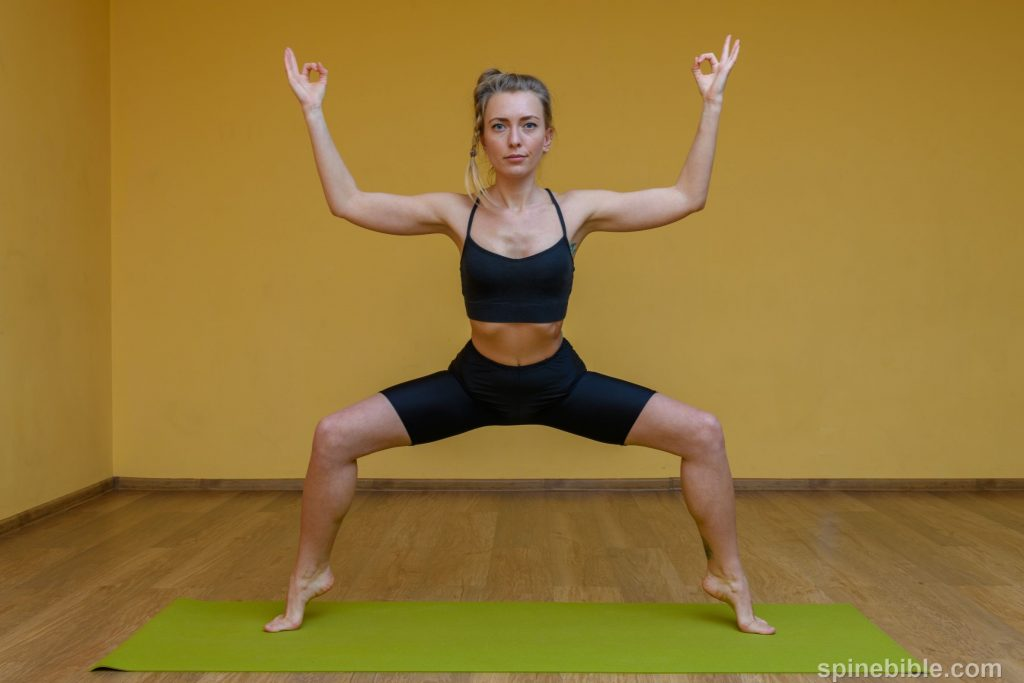 Поза всадника. Асана йоги