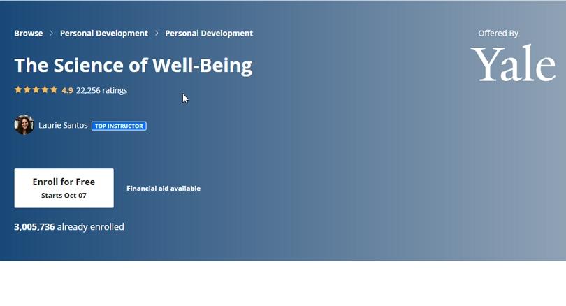 «Наука о благополучии» — курс Йельского университета